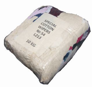 Cotton Rags, 10Kg, Vacuum Poly Bagged