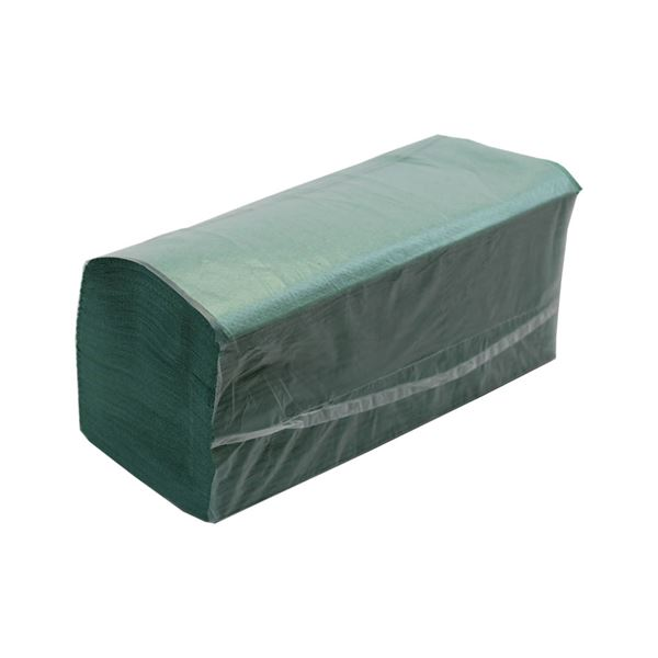 P81_3 Green Hand towels Interfold