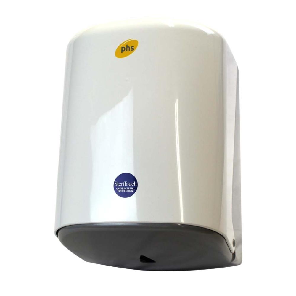 Centre Feed Dispenser Large Abs Plastic White Gloveman Supplies Ltd