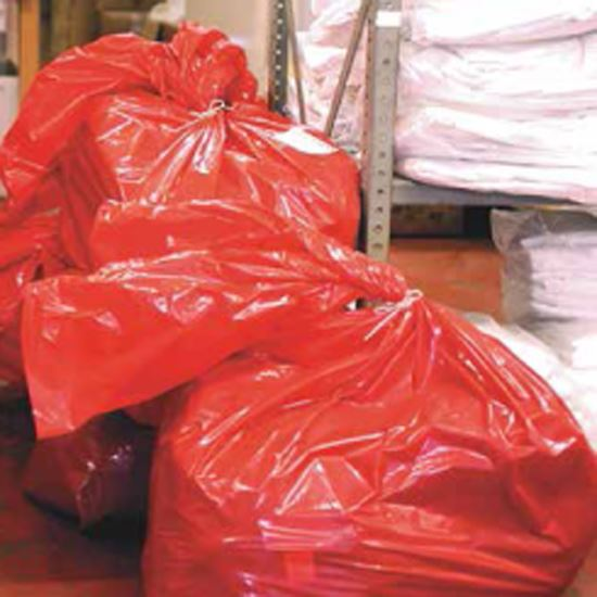 Red dissolving strip laundry bags heavy duty
