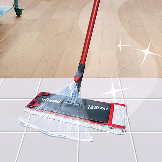 Vileda 1 2 Spray Mop Complete With Microfibre Pad