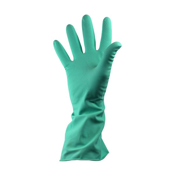 HH02-G Shield Household Rubber Gloves Green