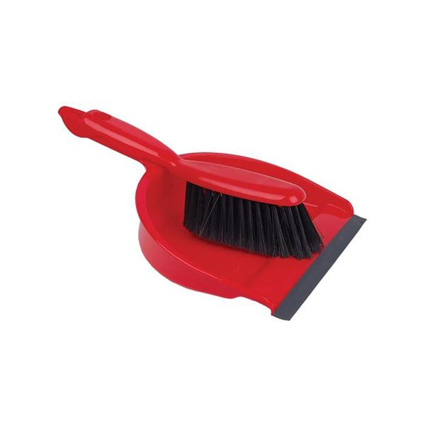 Dust Pan and Brush Set Soft Bristles - Various Colours