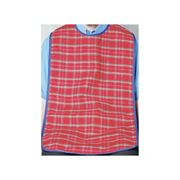 Red Check Washable Long Length Dura Bib 18 x 27""