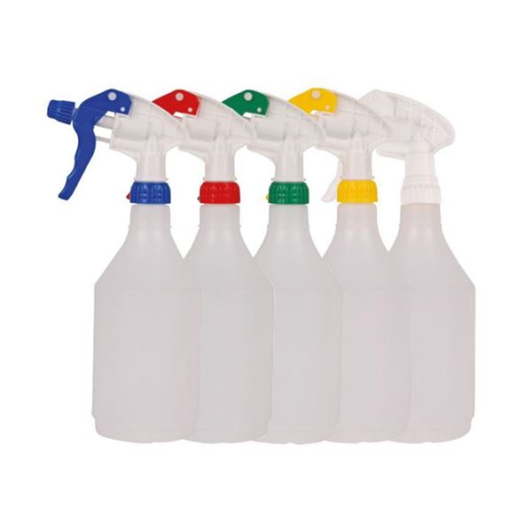 Trigger Bottles with Colour Coded Spray Heads 750ml