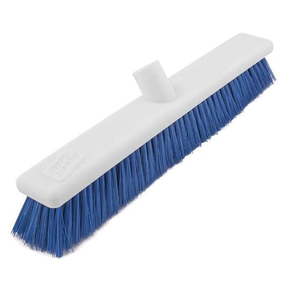 "Abbey 12"" Washable Soft Plastic Hygiene Broom Head - Various Colours"