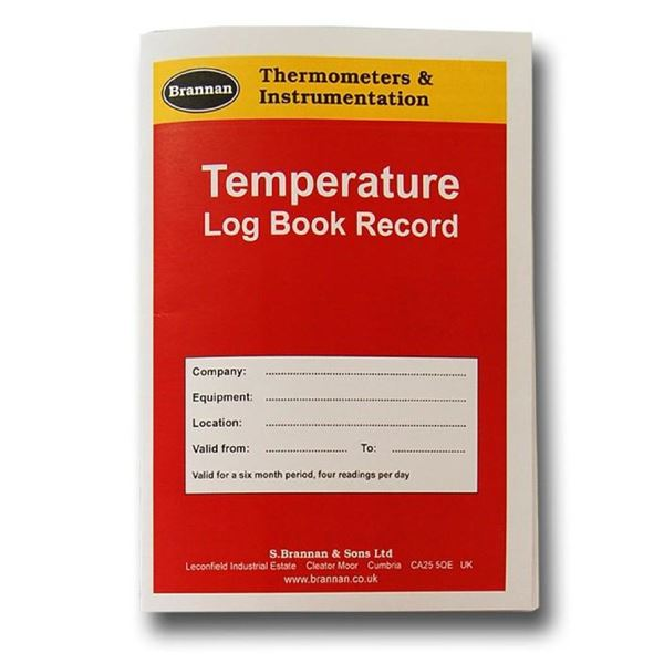 MIS40 temperature log book