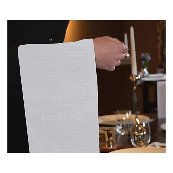 White Honeycomb Waiters Cloth 10 per Pack