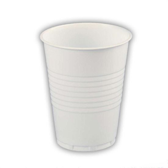 Plastic Cups White 7oz Non vending - 2000 per case