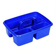Blue Plastic Tote Cleaners Caddy